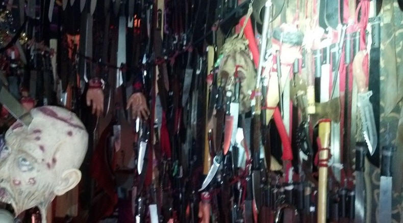 Florida 'house of horrors' contains 3,714 bladed weapons, 1 sword-wielding woman