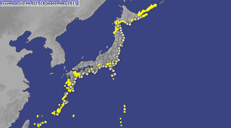 Chile quake-triggered tsunami waves reach Japan