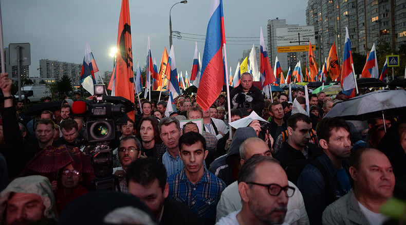 Opposition rallies in Moscow for 'rotation of power' in Navalny-led protest