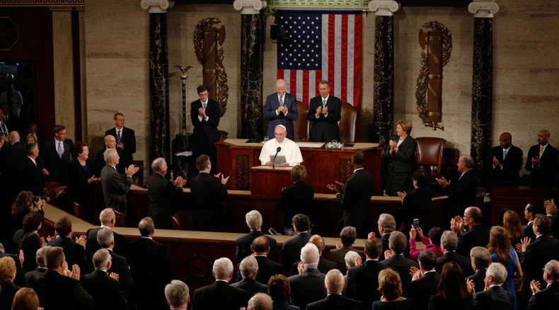 'If we want security, let us give security': Pope Francis gives historic speech in Congress