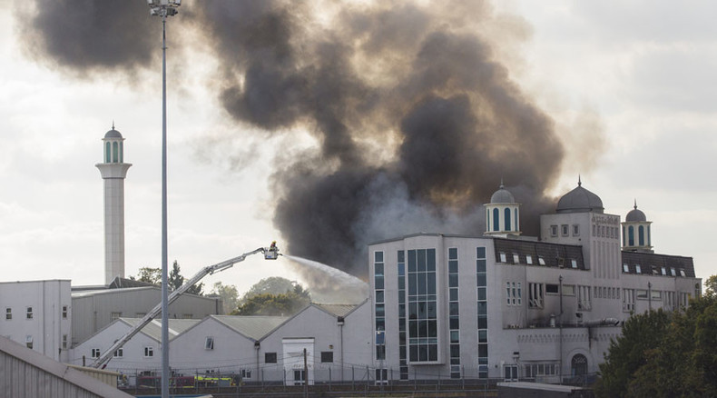 Two teens arrested over suspected arson at Baitul Futuh Mosque in London