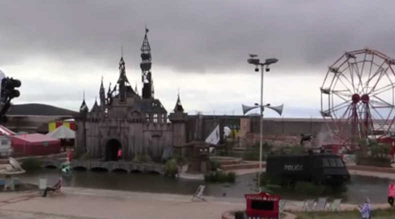 Banksy moves Dismaland to Calais 'to shelter refugees'