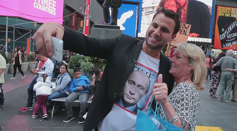 Mixed responses: What is it like to 'wear Putin' in NYC? (VIDEO)