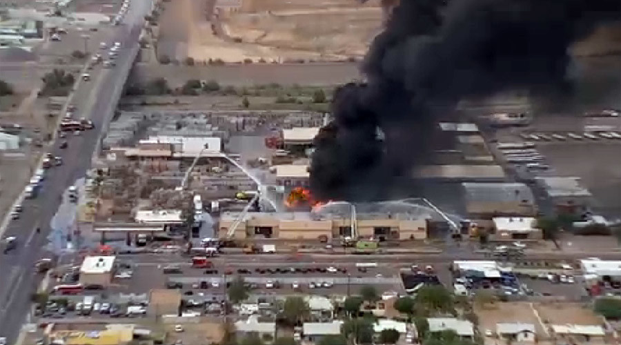 Explosions reported as 'hazardous material' fire rages in Phoenix