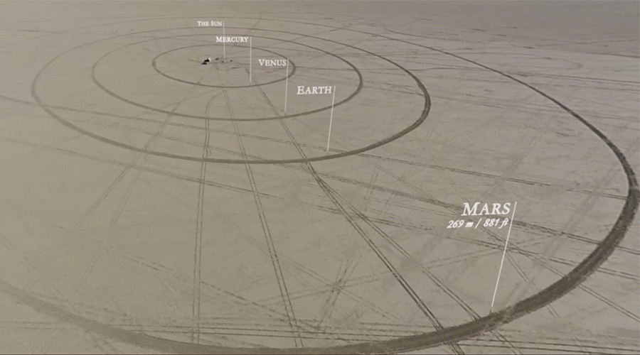 11km wide solar system replica built by space wizards in Nevada Desert (VIDEO)