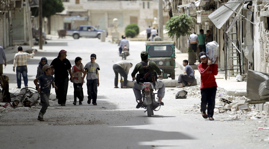 Russia constructs first foreign camp in Syria for internal refugees