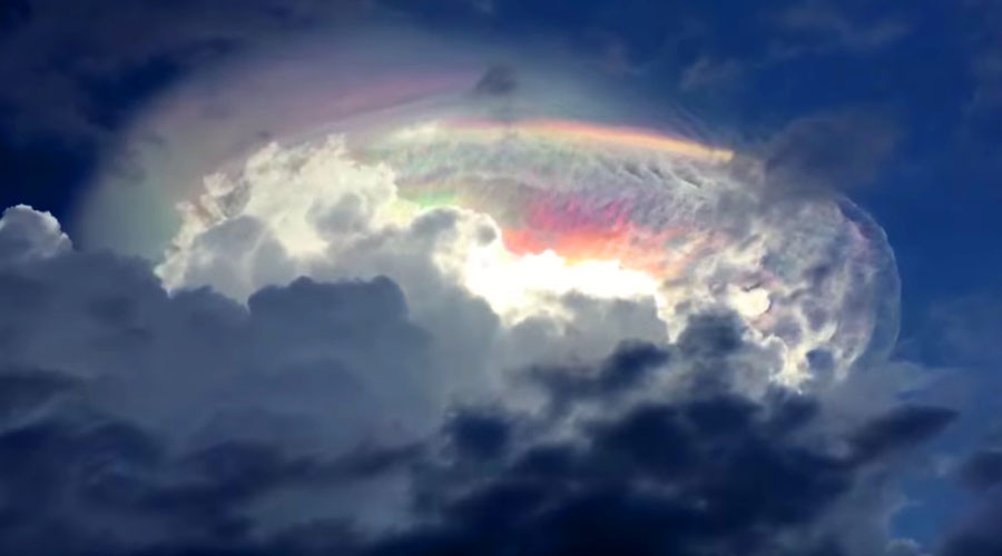 'End of Days': Amazing multi-colored cloud sparks debate in social media