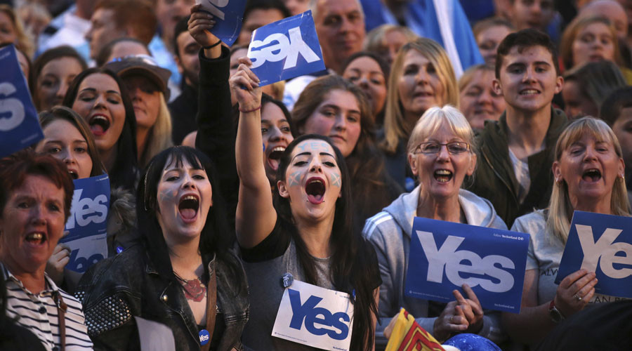 #StillYes: Glasgow hosts massive rally in support of Scottish independence year after vote