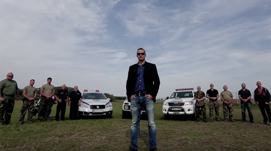 Hungarian mayor stars in action movie-like video to deter refugees