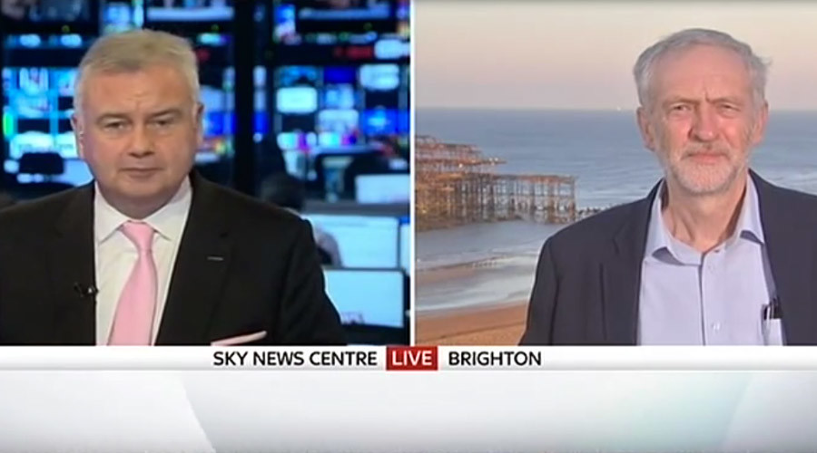 Sky News host faces Twitter backlash over 'inane' Corbyn interview (VIDEO)