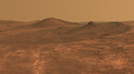 This view from NASA's Mars Exploration Rover Opportunity shows part of
