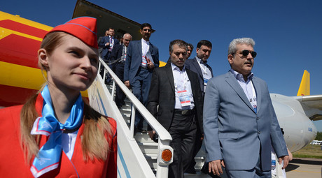 Sorena Sattari, Vice President of Iran, at the opening of MAKS-2015 airshow. © Sergey Mamontov