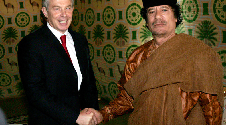 Blair urged Gaddafi to step down, flee to safe haven during Libya uprising