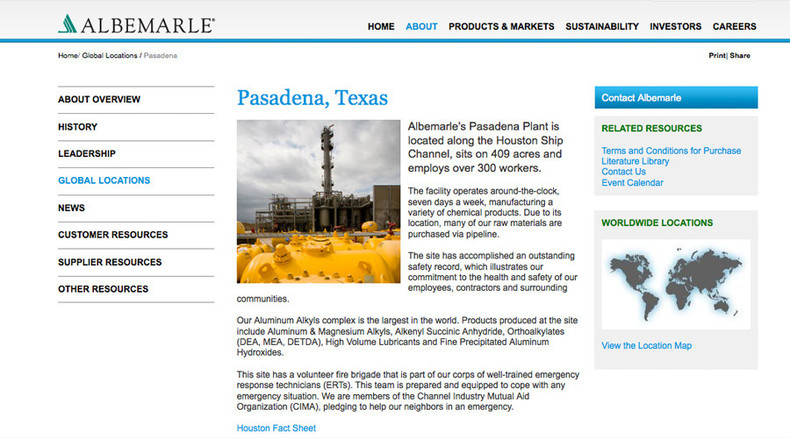 4 people injured in explosion at Pasadena, TX chemical plant