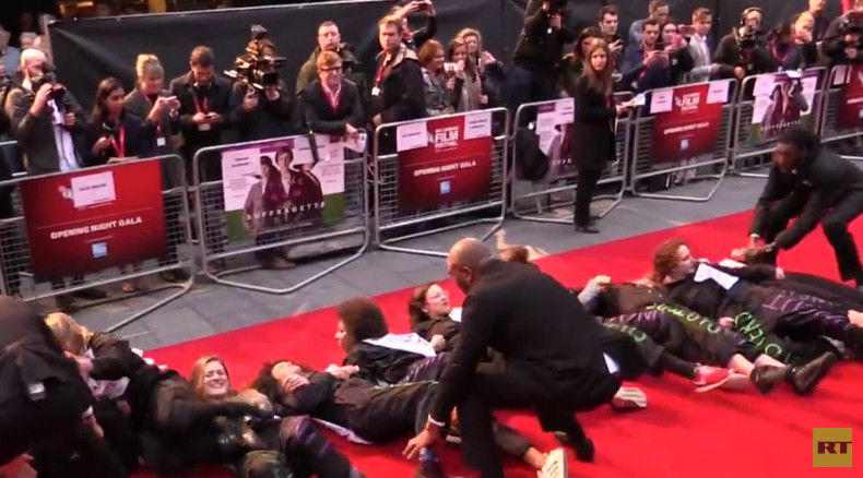 Feminists occupy 'Suffragette' film premiere to oppose austerity (VIDEO)