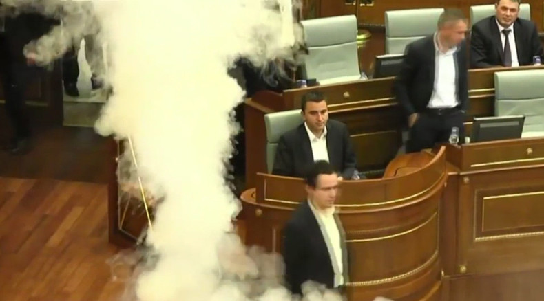 Teargas at Kosovo parliament: 1 MP faints, 2 hospitalized after opposition stunt (VIDEO)
