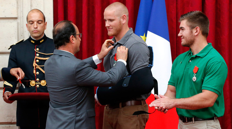 Hero who saved lives during French train attack stabbed multiple times in California (VIDEO)