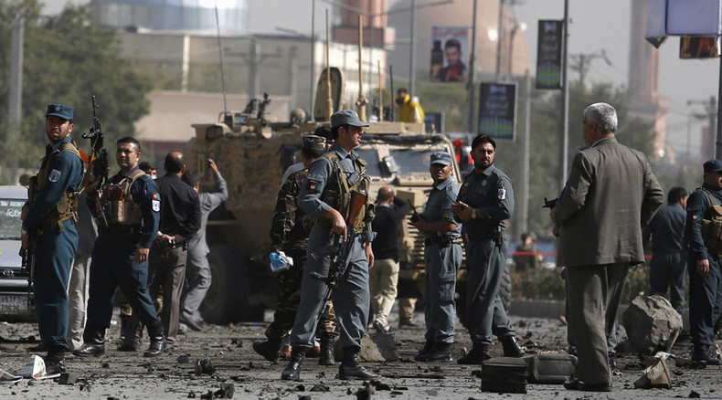Blast hits foreign troops' convoy in crowded Kabul area, injures civilians