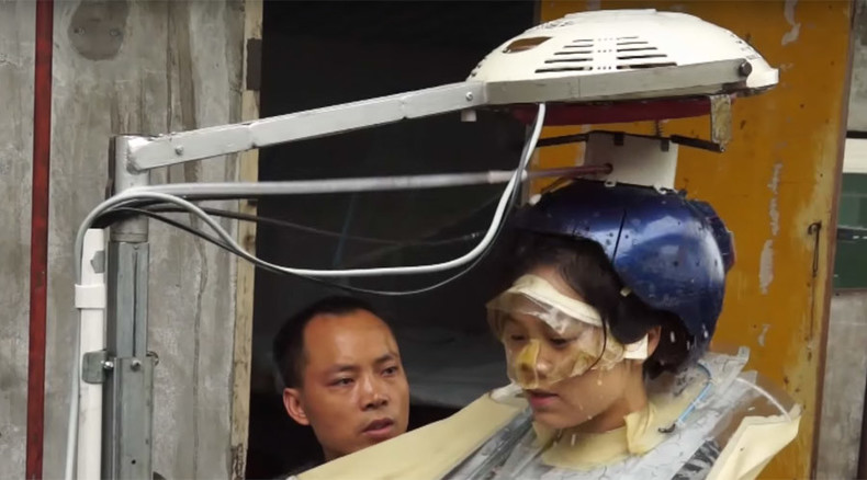 Chinese inventor spends 16 years designing hair-washing machine (VIDEO)