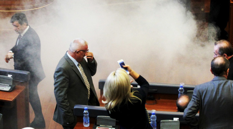 'Opposition has enough gas:' Anti-Serbia MPs teargasses Kosovo parliament…again