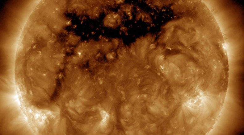 As big as 50 Earths: NASA captures huge sun hole that produces high-speed solar wind