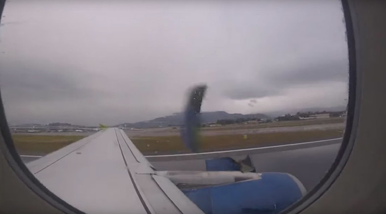 Passenger films plane engine cover breaking apart during take-off (VIDEO)