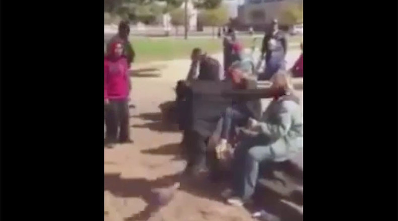 Black youths viciously attack homeless white woman - as passersby do nothing (GRAPHIC VIDEO)