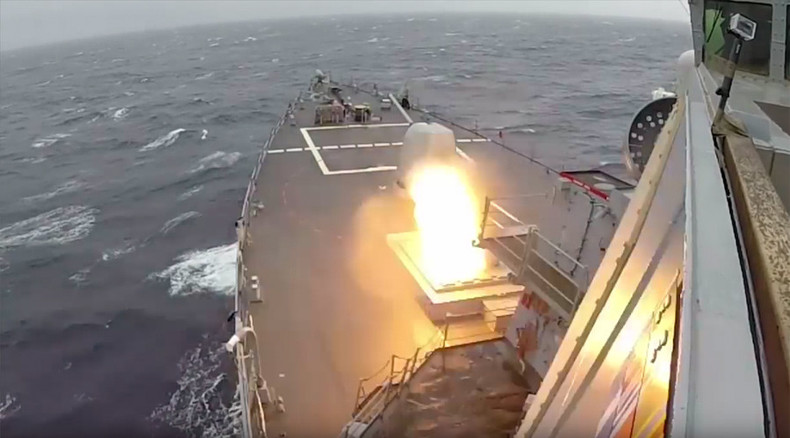 First time in Europe: US Navy successfully intercepts missiles during war games (VIDEO)