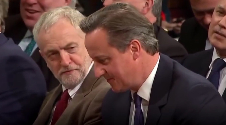 Corbyn vs Cameron unplugged: Spoof subtitles offer hilarious take on inaudible chat (VIDEO)