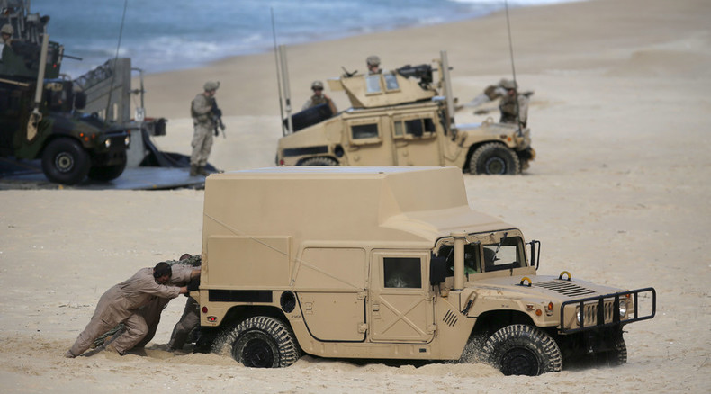 War game whoops! NATO exercises end with hovercraft, Humvees stuck in sand (VIDEO)