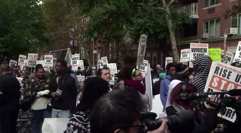 #RiseUpOctober wraps up in NYC with massive rally against police brutality