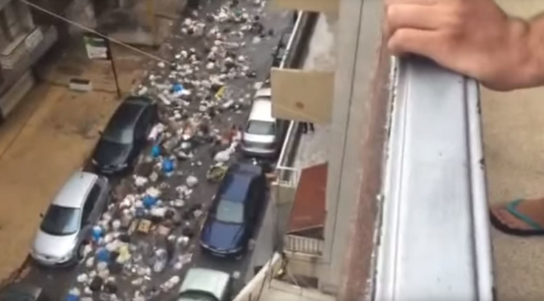 Trash splash: Heavy rains over Beirut spawn rivers of garbage across capital (VIDEO)