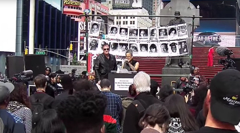 New York police union calls for Tarantino boycott after director appears at anti-brutality rally