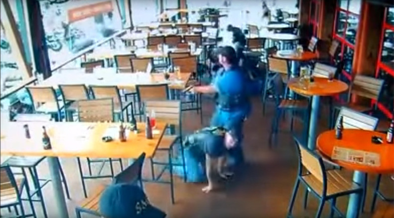 Wild West at Twin Peaks: Waco biker gang shootout CCTV footage released (VIDEO)