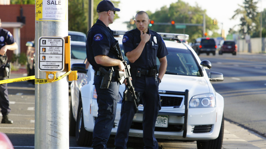 Man with gun, knife barricaded himself in Colorado police headquarters