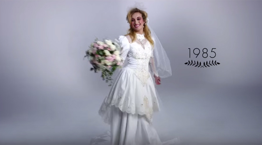 Will You Be Mine 100 Years Of Wedding Fashion In Amazing Time Lapse