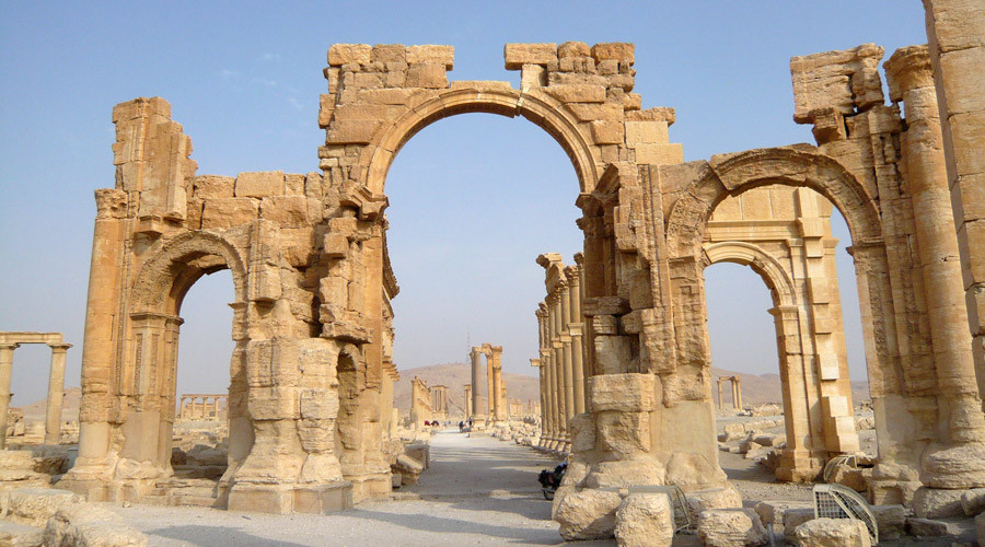 ISIS terrorists blow up iconic 2,000yo Arch of Triumph in Palmyra