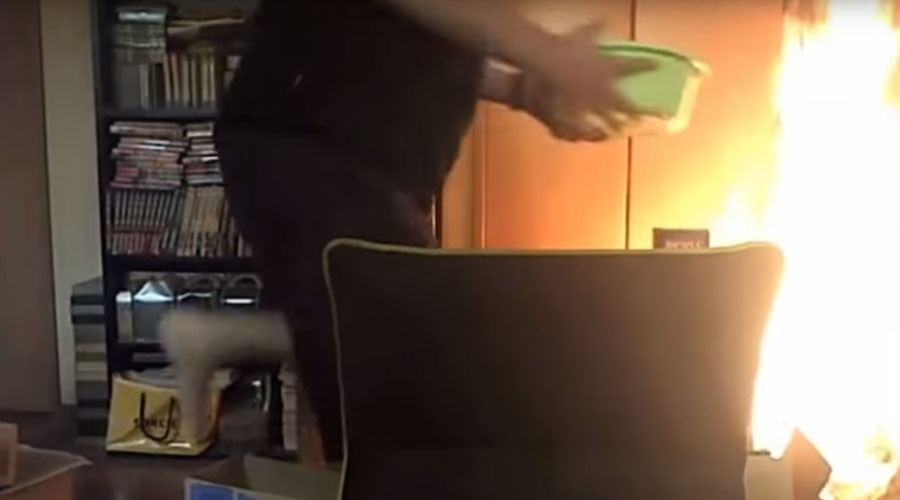 Playing with fire: Japanese game streamer burns down flat while toying with lighter (VIDEO)