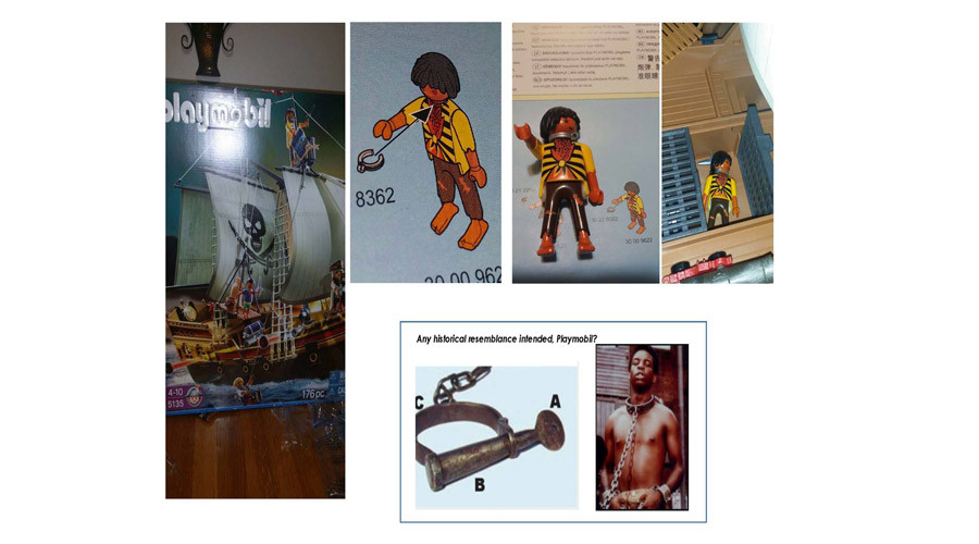 Mom outraged over dark-skinned Playmobil figurine wearing 'slave collar'