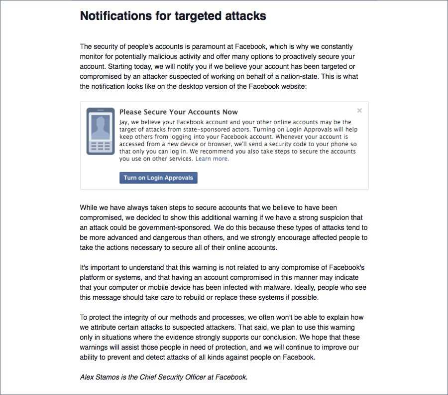 Facebook wants your phone number, cites threat from