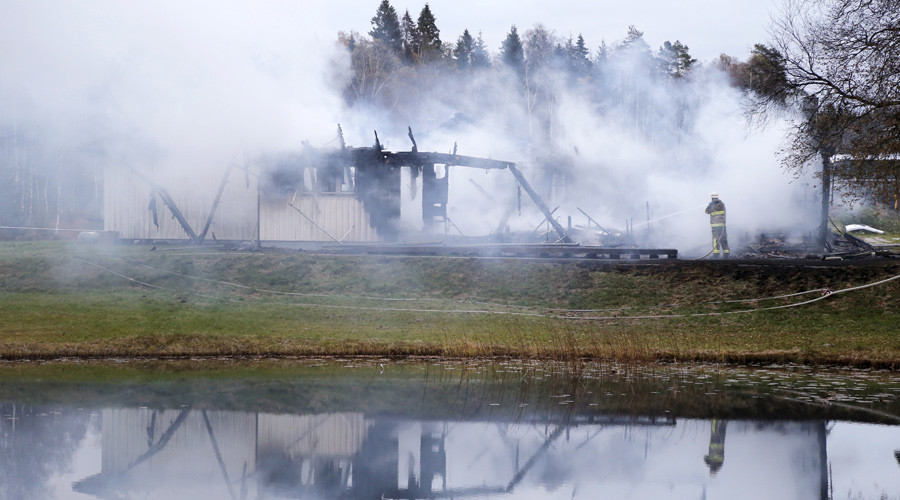 Firefighters battle 5th suspected arson at Swedish refugee shelters in 2 weeks
