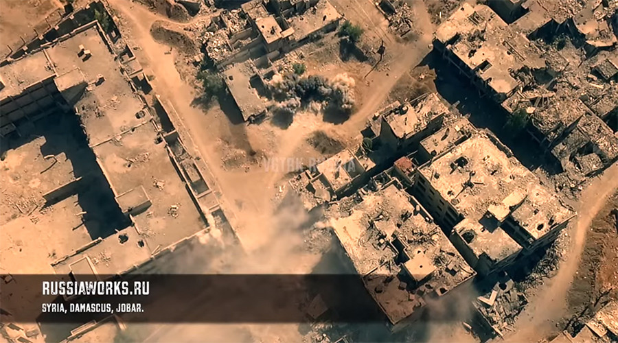 Haunting drone HD videos capture Syria combat zones