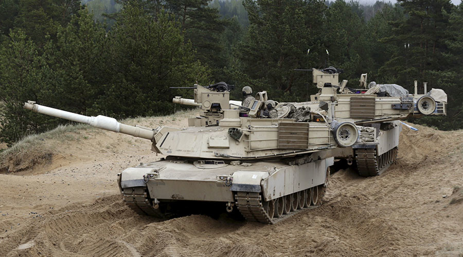 Abrams tanks and Bradley vehicles: US heavy military equipment arrive in Estonia