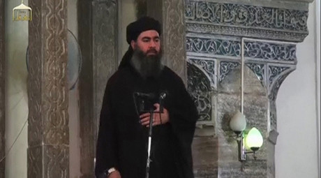 Abu Bakr al-Baghdadi © Social Media Website via Reuters TV