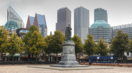 Het Plein (The Square) in The Hague, Netherlands. © Rene Mensen