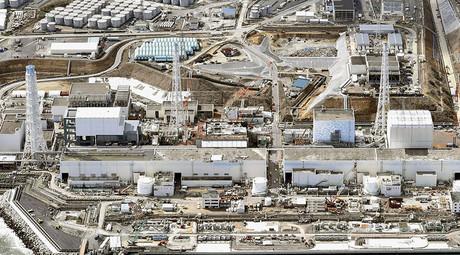 General aerial view of Tokyo Electric Power Co. (TEPCO)'s tsunami-crippled Fukushima Daiichi nuclear power plant in Fukushima prefecture. ©Kyodo