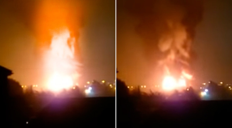 Massive fire, explosions in Bracknell industrial estate west of London