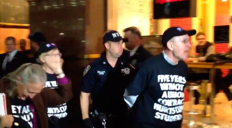 NYPD arrests 50 at protest over wages & raises at CUNY headquarters