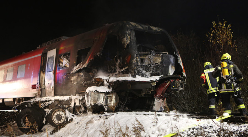 Bavaria rail disaster: At least 2 dead as German train collides with towed US Army vehicle (VIDEO)