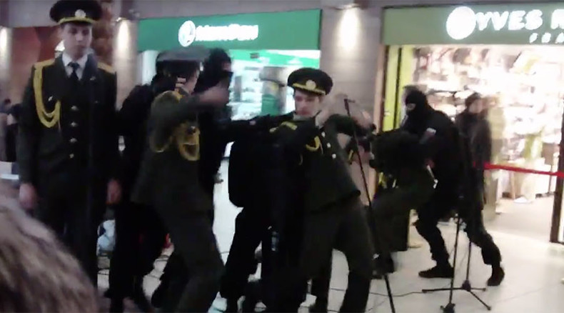 Get Unlucky? Commandos 'abduct' Russian Army choir singing James Bond Spectre theme (VIDEO)